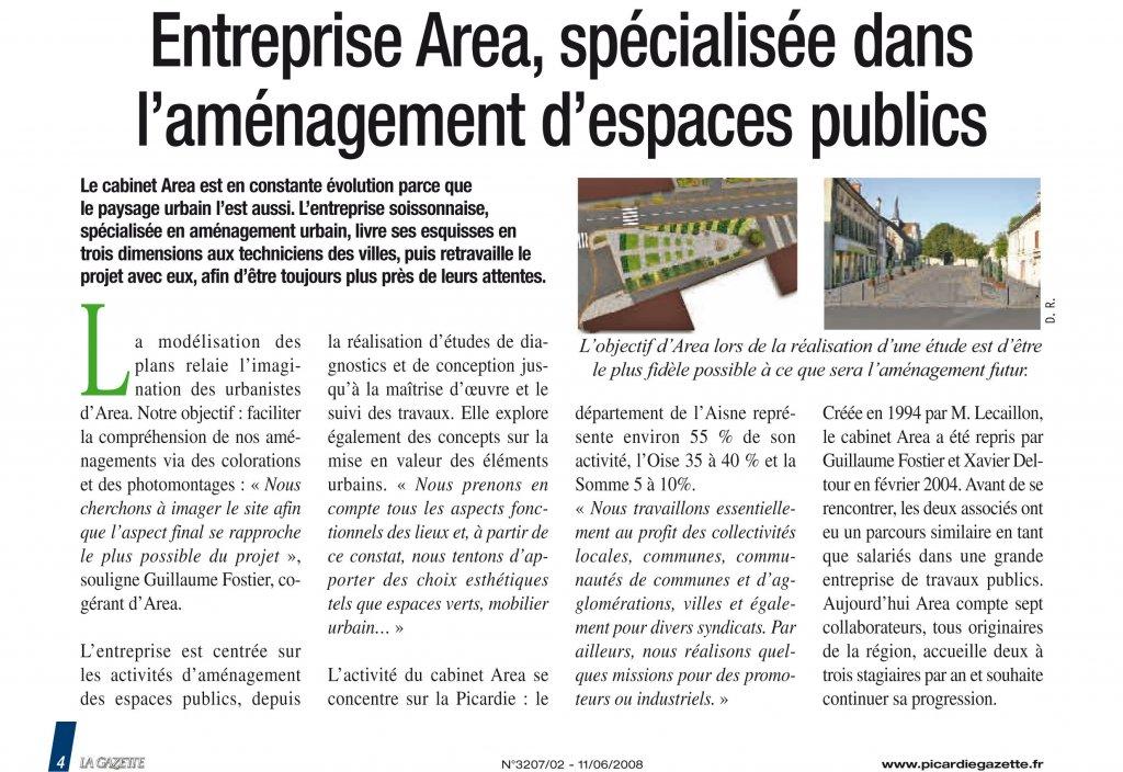 Socit AREA Amnagement dEspace Public VRD Paysage
